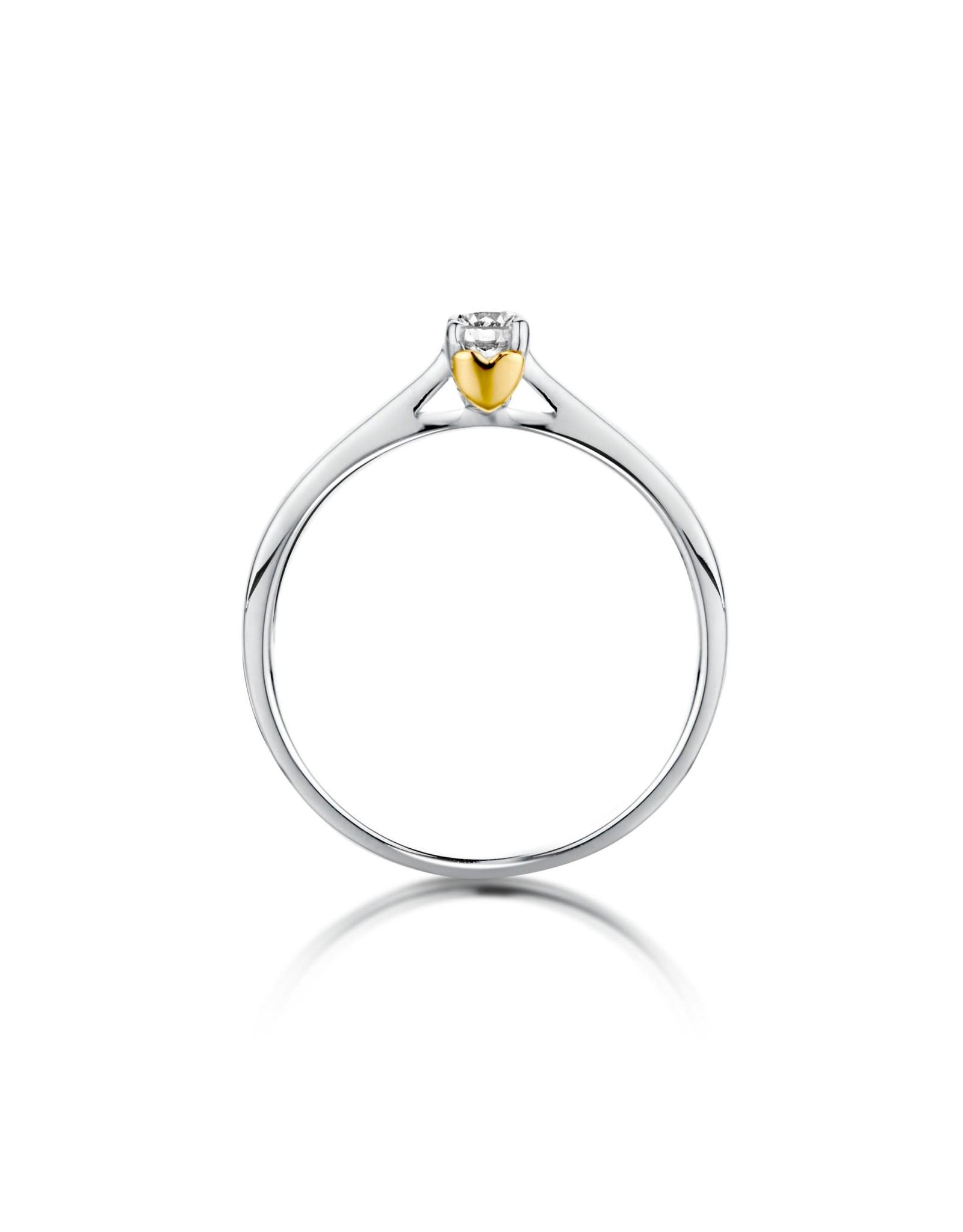 Dulci Nea Ring Bicolor Wit/Geel Goud 18kt R45769A