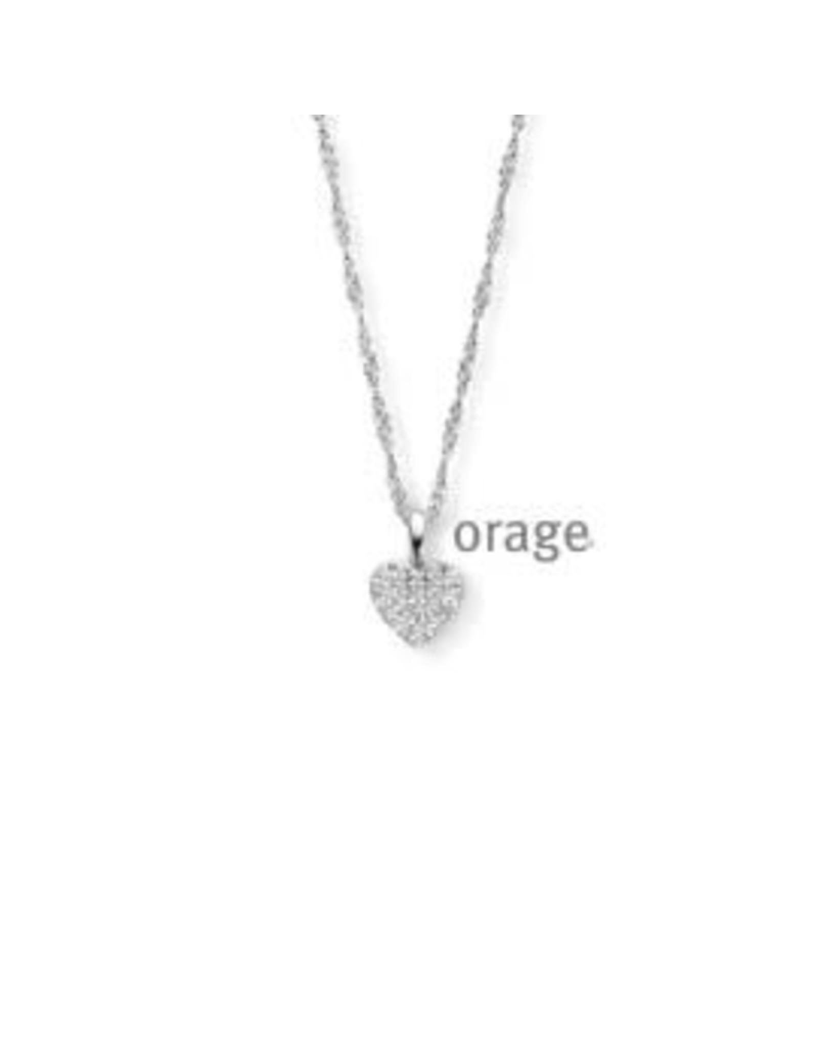 Orage Halsketting Hartje Orage V1411 zilver