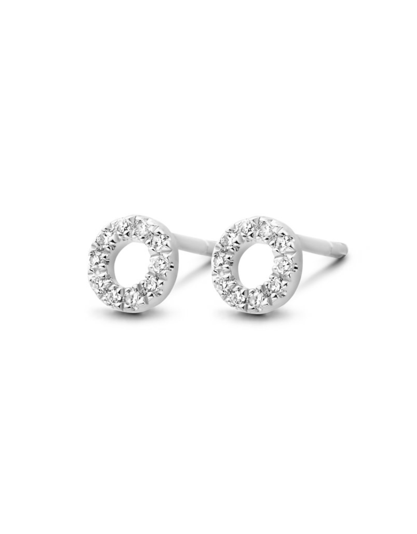 Diamanti Per Tutti Small Circle of Life Earring - Zilver Briljant