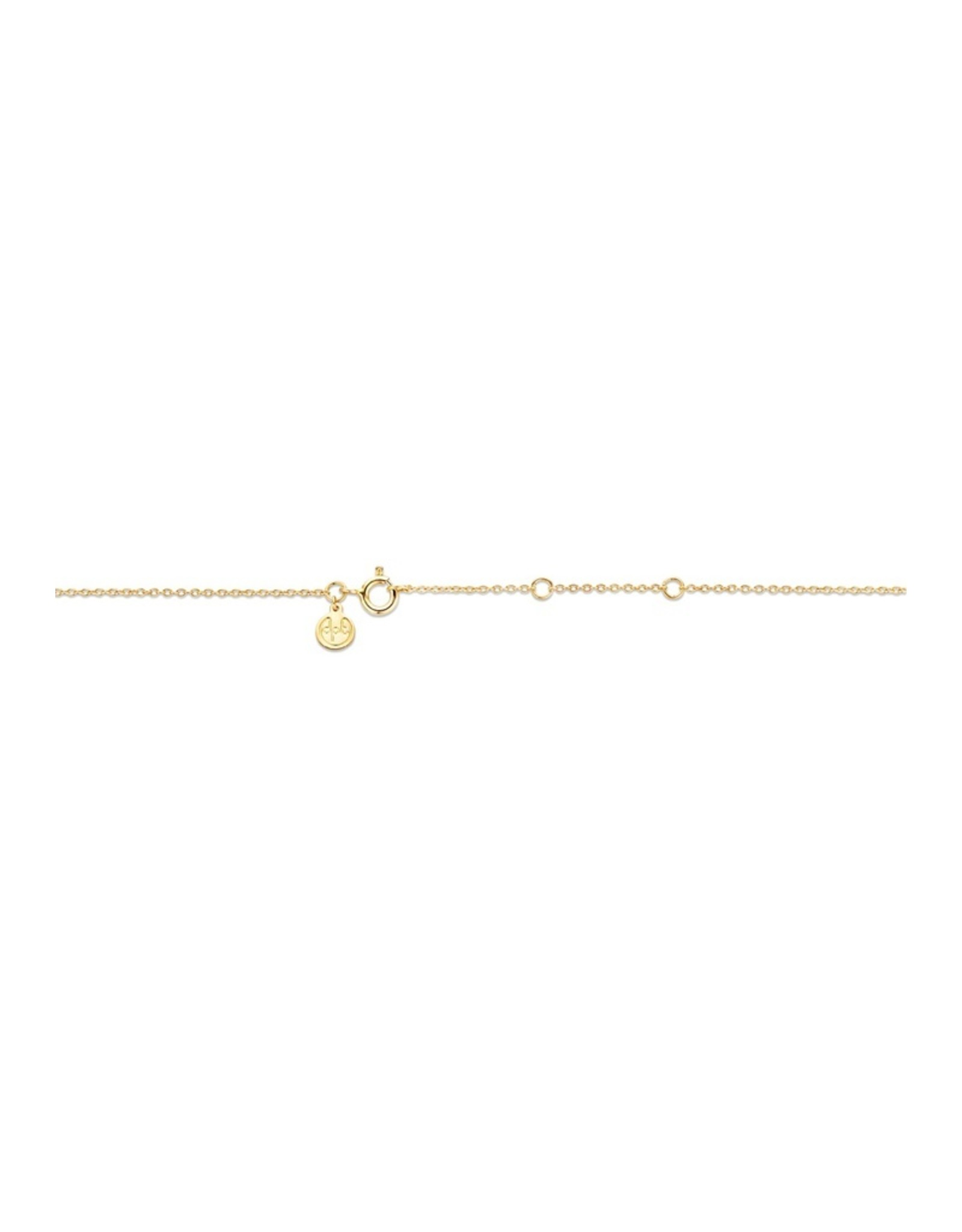 Diamanti Per Tutti Dark Secret Necklace Black Onyx - 42-48 cm - Zilver Goudkleurig Briljant