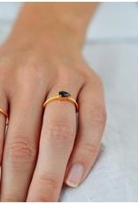 Diamanti Per Tutti Flame Ring zwarte onyx- zilver goudkleurig maat 52