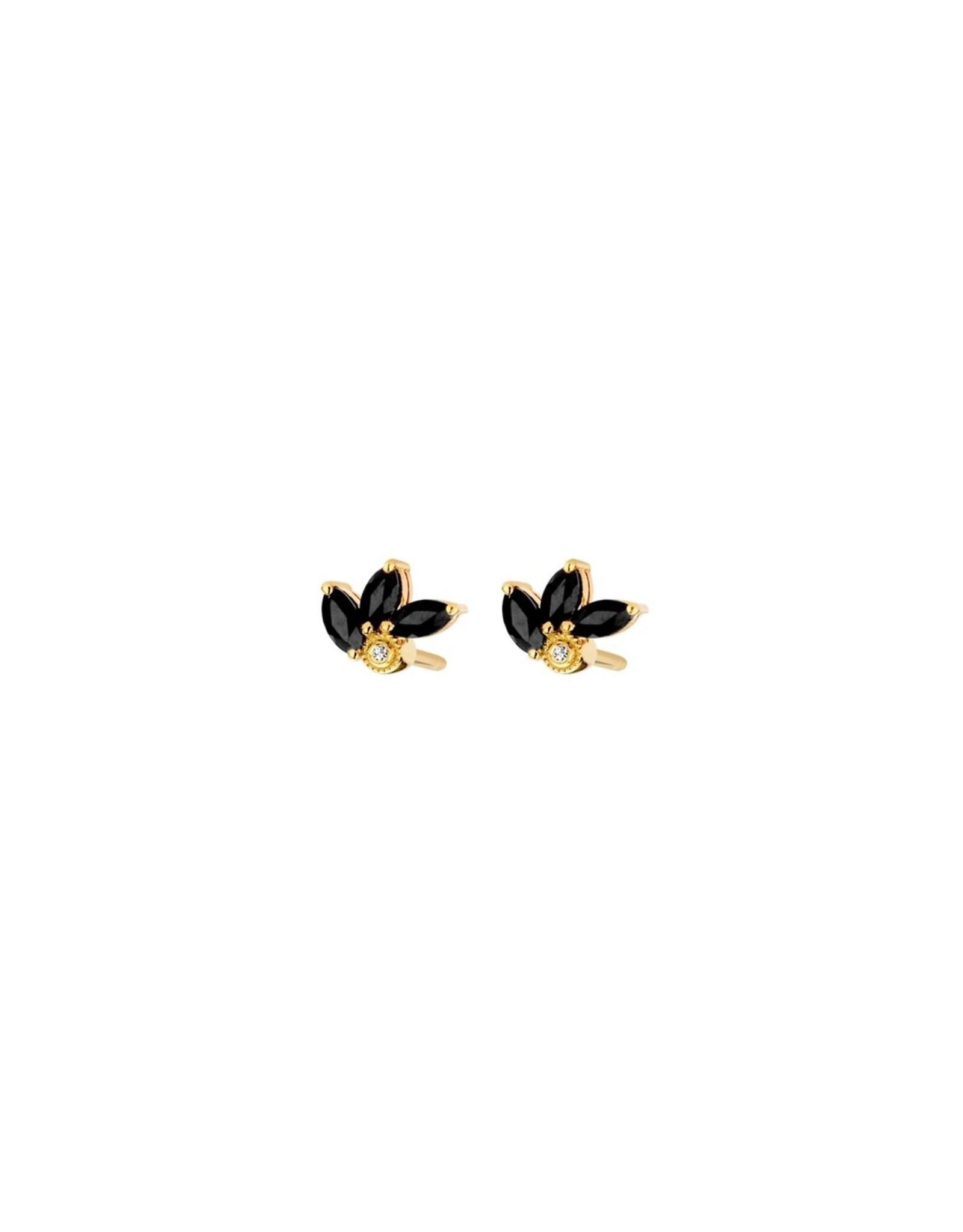 Diamanti Per Tutti Flame Earrings - Zilver Goudkleurig Briljant