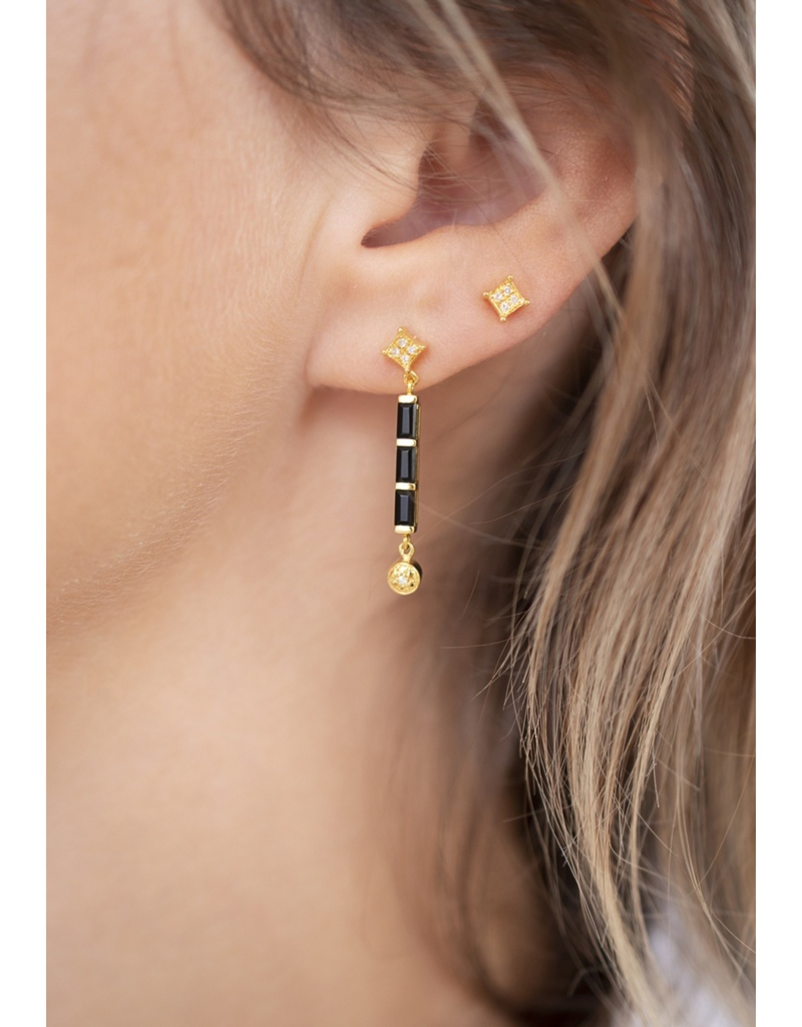 Diamanti Per Tutti Secret Twilight  Earrings - Zilver Goudkleurig Briljant