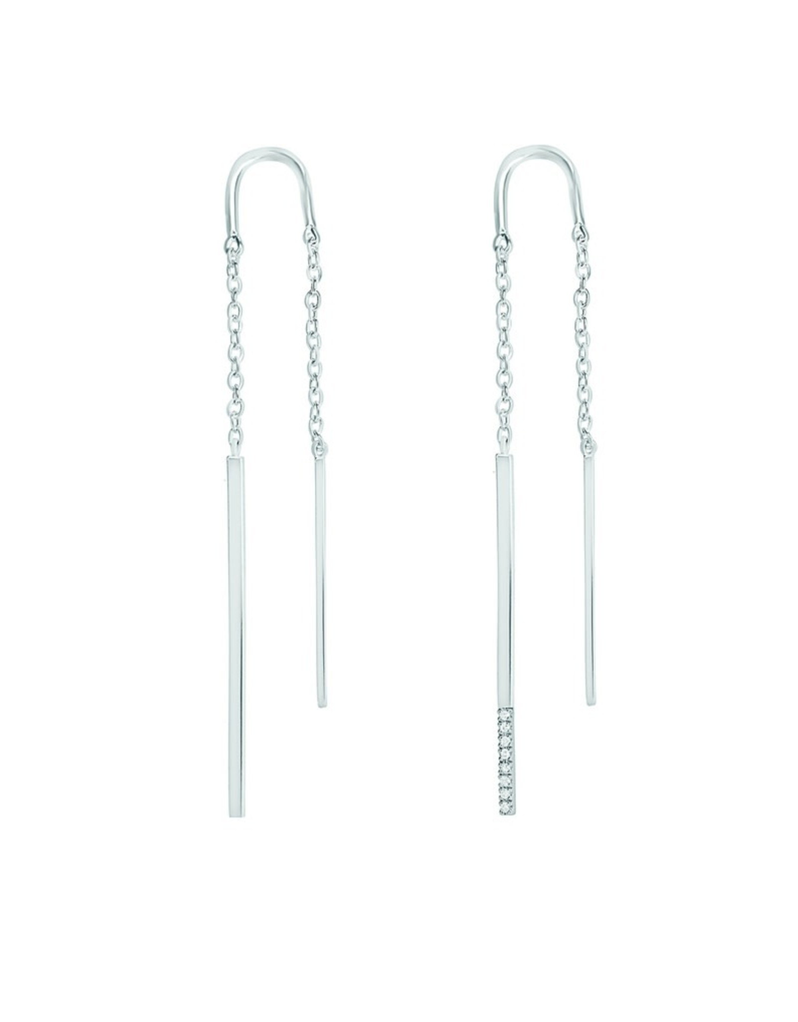 Diamanti Per Tutti Double Linea Earring - Zilver