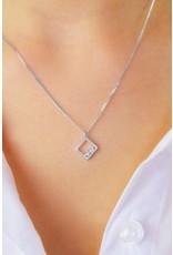 Diamanti Per Tutti Square Unity Necklace - Zilver Briljant - 38-42 cm