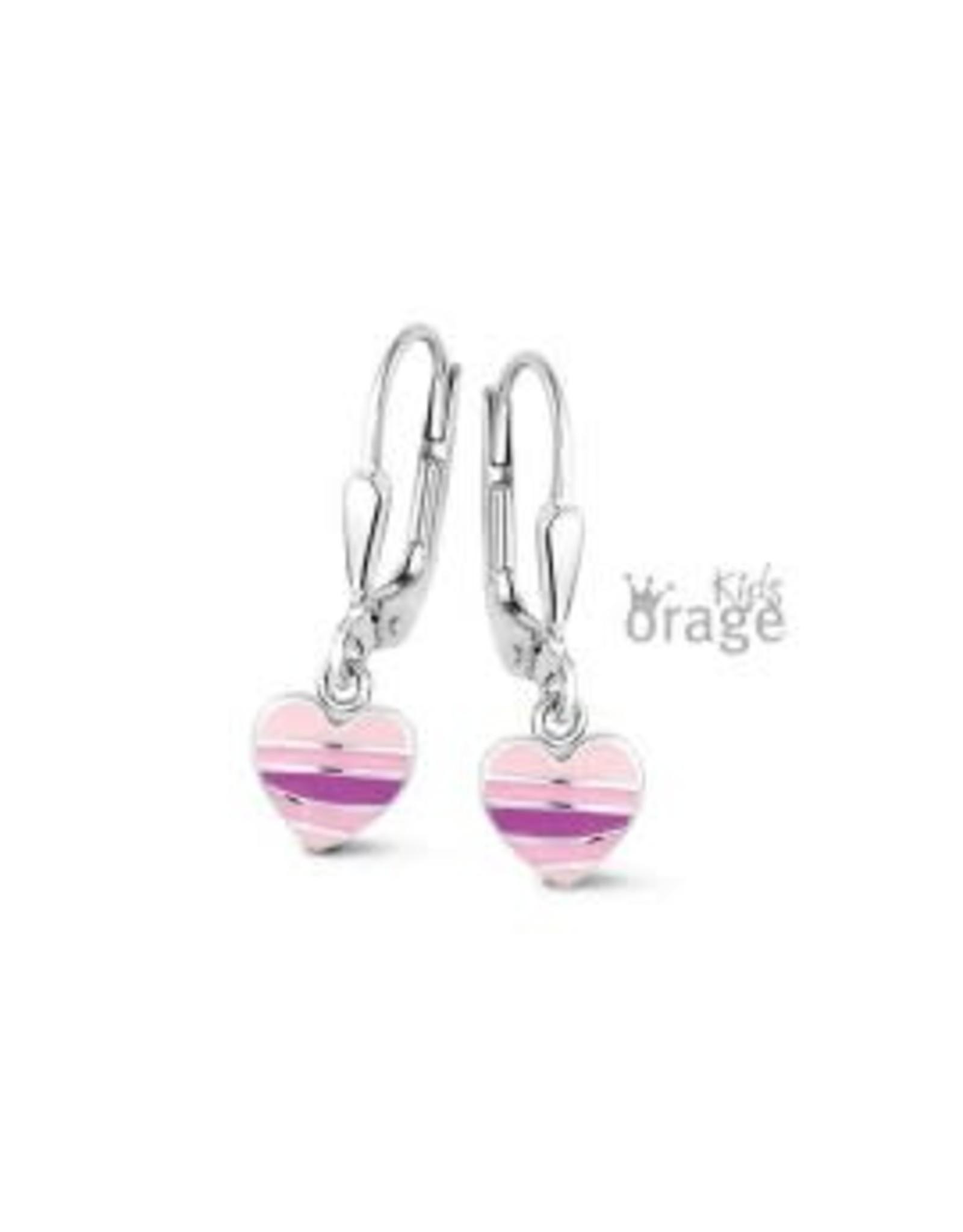 Orage Kids Oorslingers Orage Kids K2074 Hartje roze