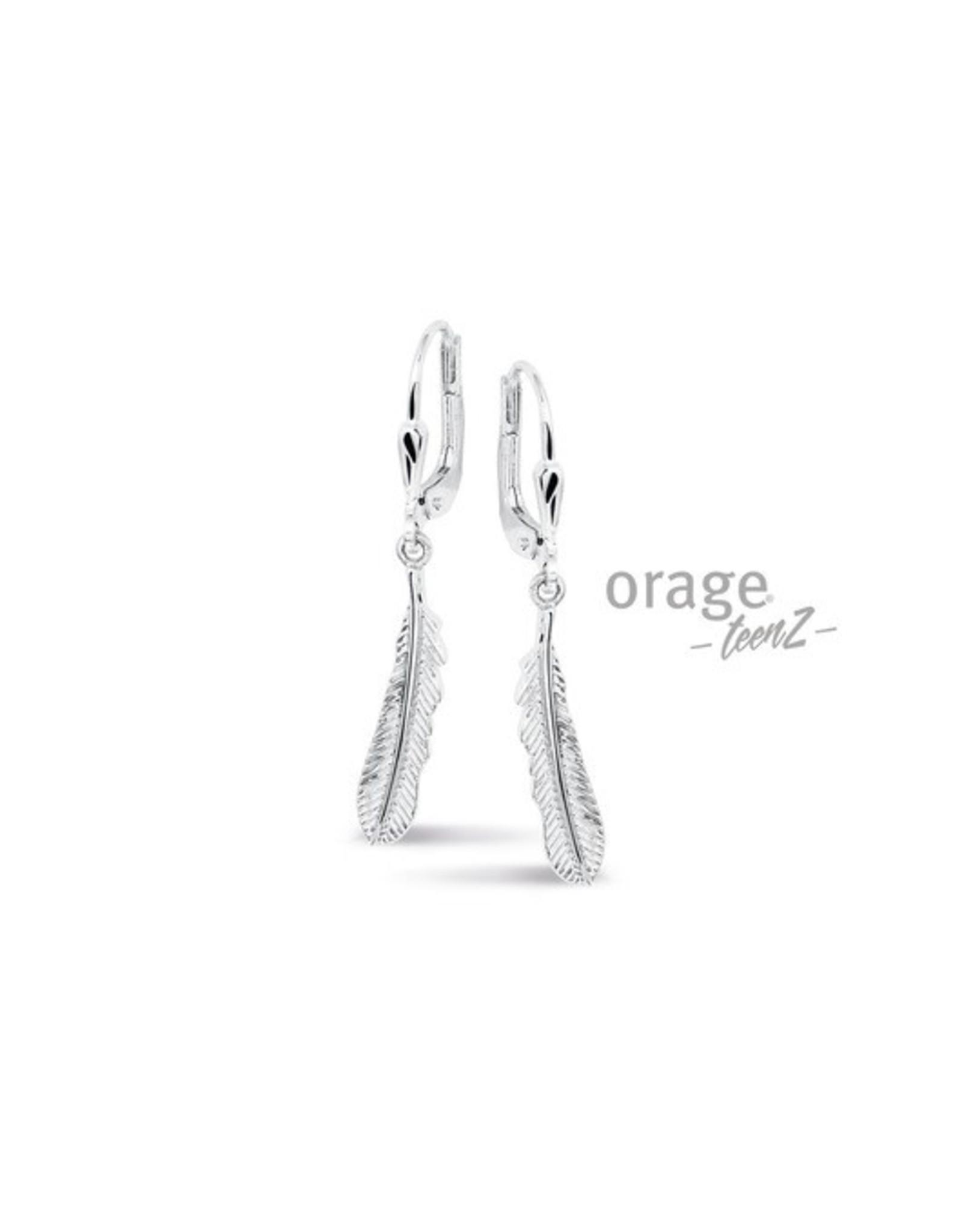 Orage Teenz Oorbellen/Oorslingers Zilver Veer T438