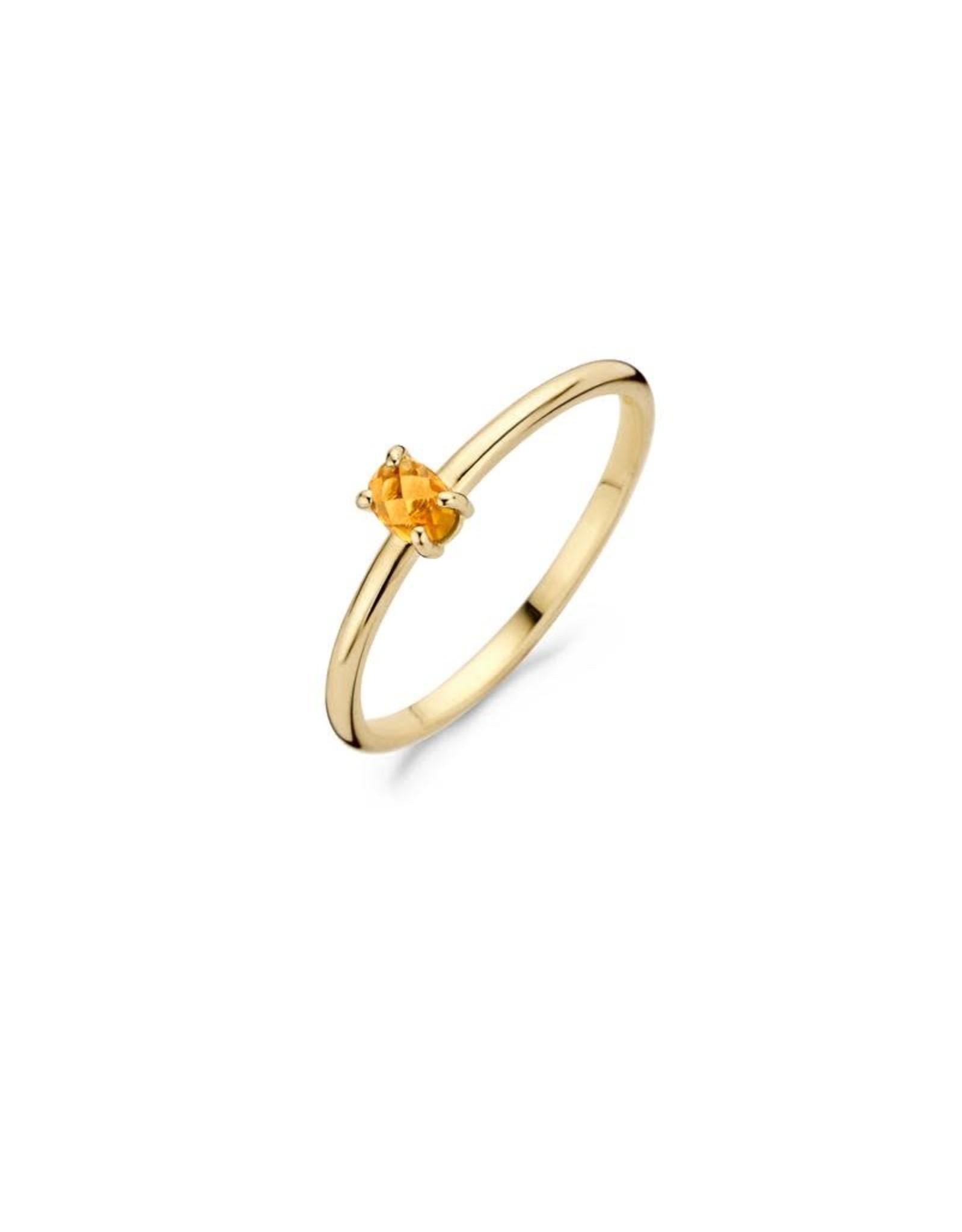 Blush Ring Blush geel goud 14kt 1204YCI citrine maat 50