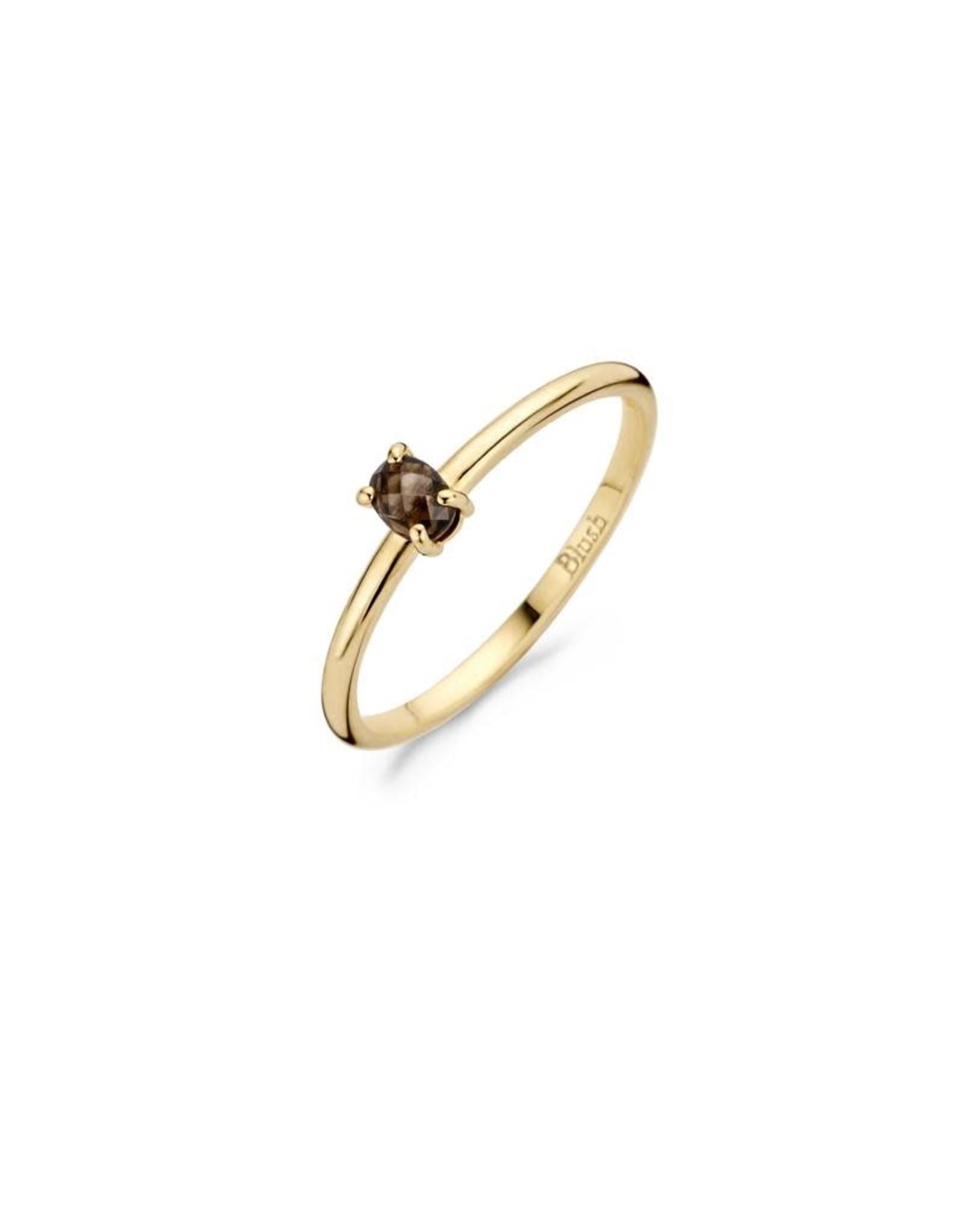 Blush Ring Blush geel goud 14kt 1204YSQ rook kwarts maat 54