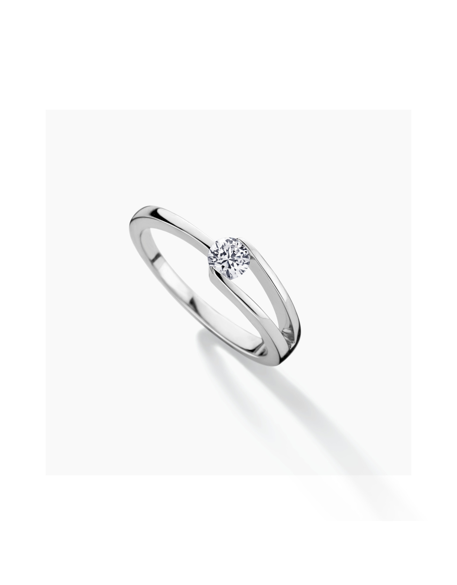 FJF Jewellery Ring Solitaire 4mm FJF0040454SWH Classic Zilver maat 52