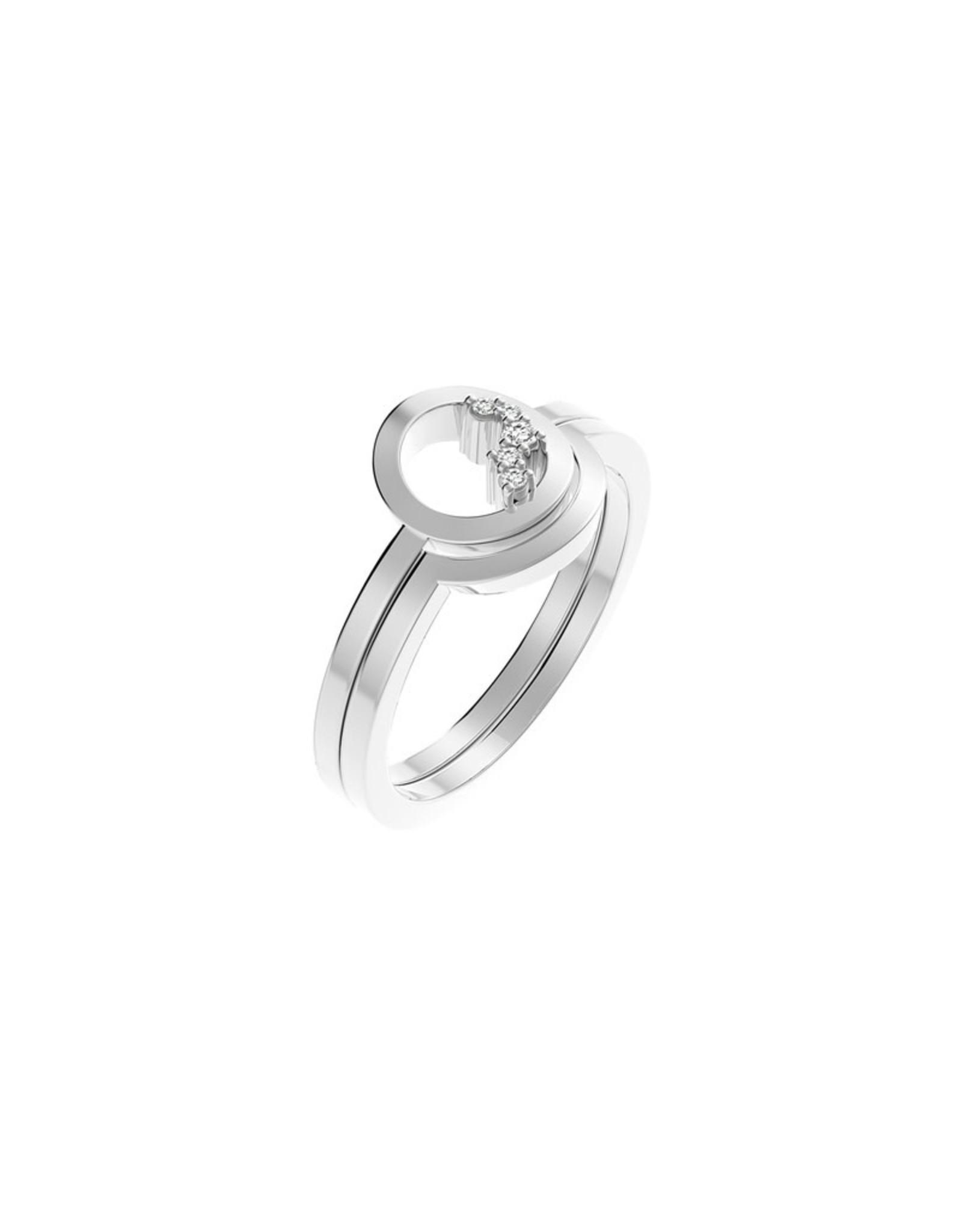 Diamanti Per Tutti Circle Unity Ring - Zilver Briljant - 54