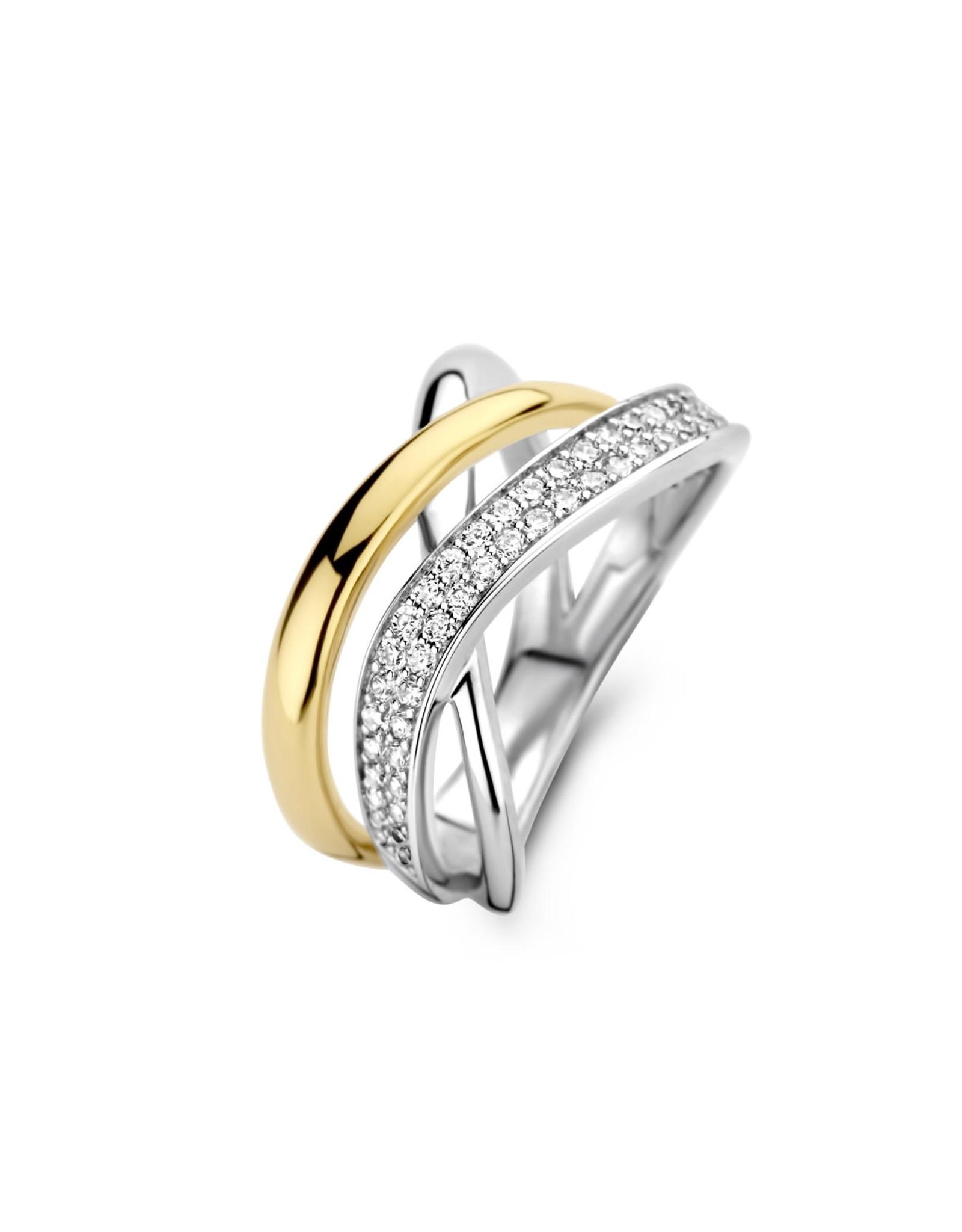 Ring Naiomy Silver N1C54 Bicolor Zilver Verguld