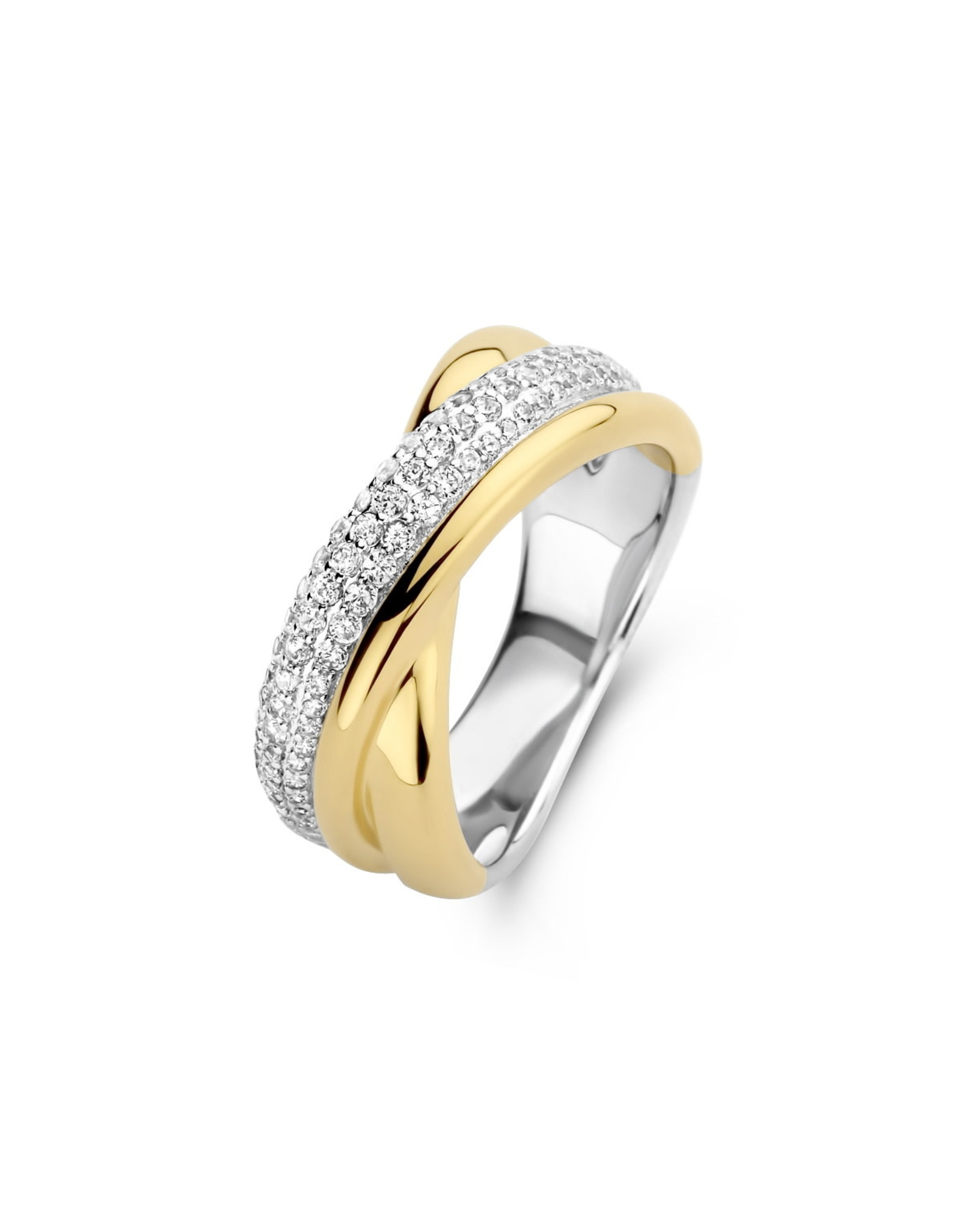 Ring Naiomy Silver N1H54 Bicolor Zilver Verguld