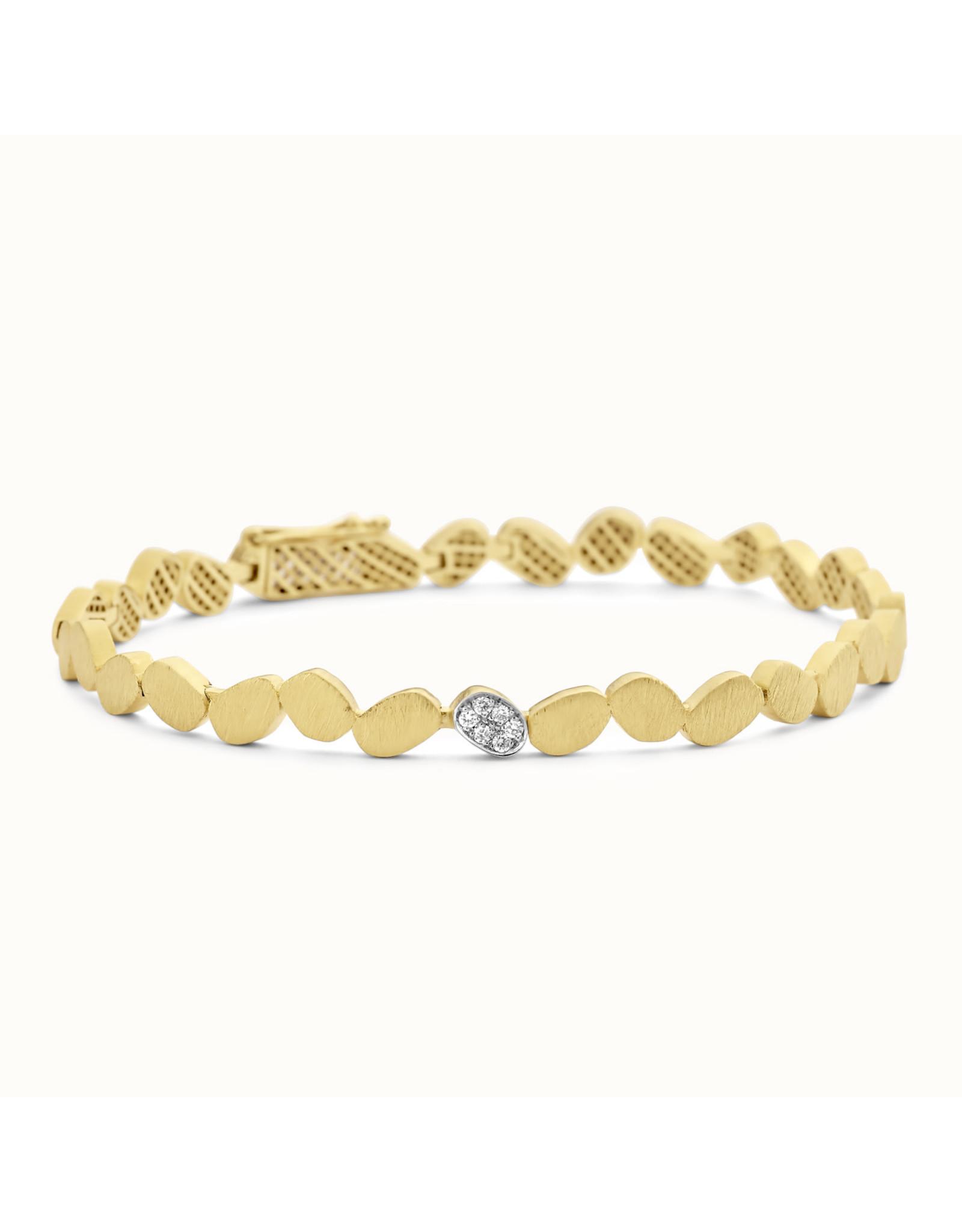Femme adoree Armband Geel Goud 18kt 03A0301 Diamant 6pt
