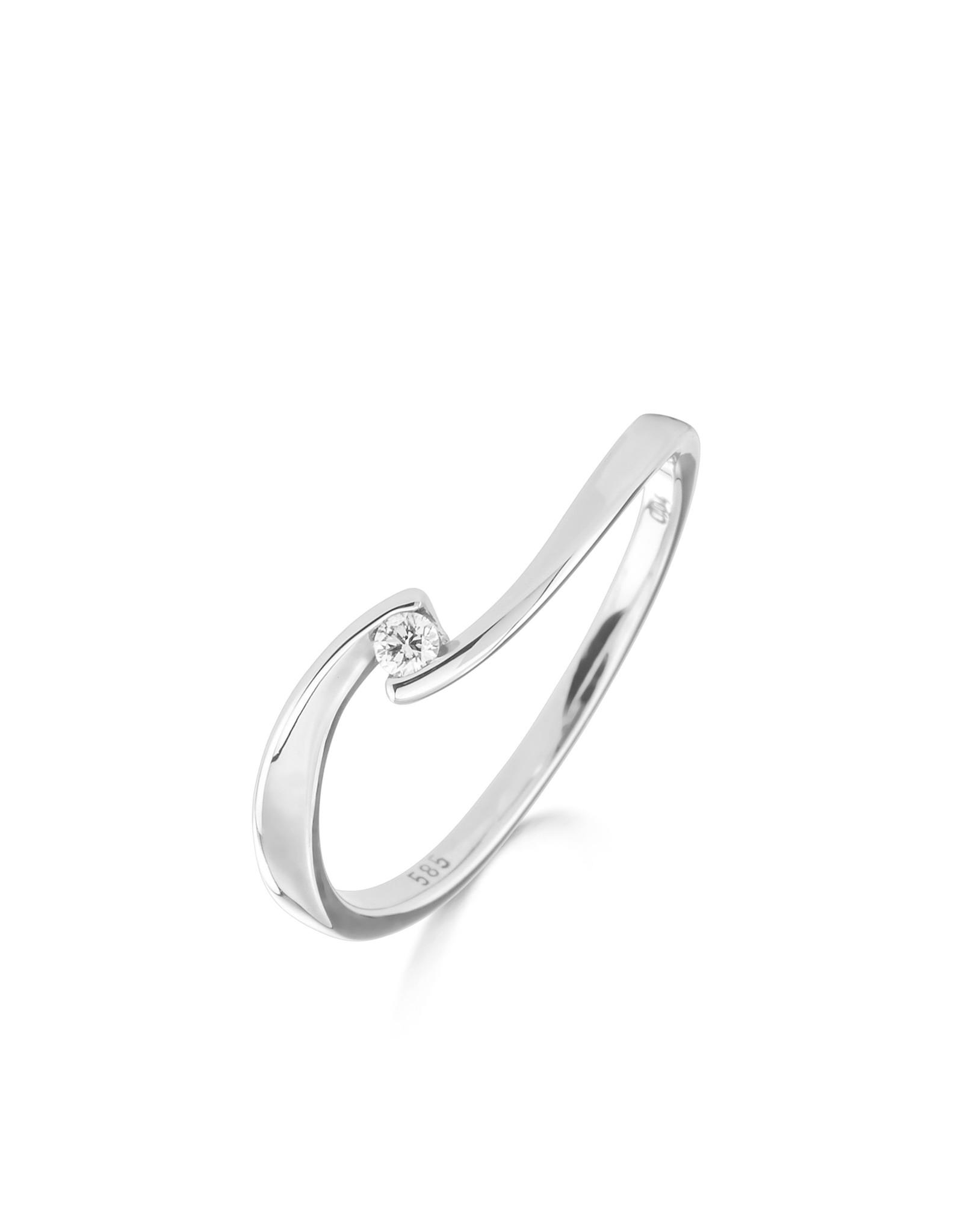 Ring  Solitaire Wit Goud 18kt 91CQ21/A-54 briljant 0.040 ct