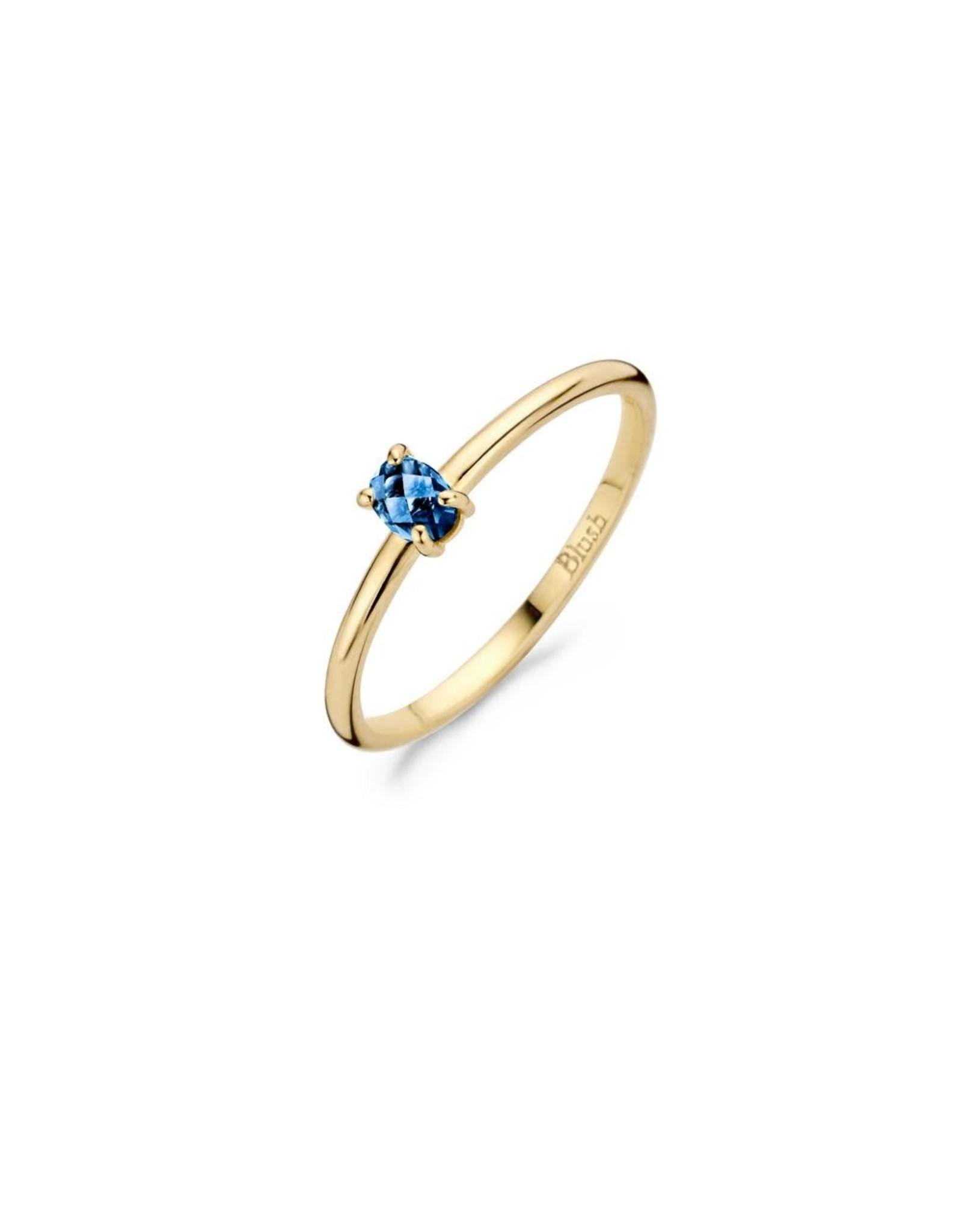 Blush Ring Blush geel goud 14kt 1204YLB topaas maat 48