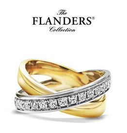 Flanders Ring Flanders 206B Bicolor Wit/Geel Goud 18kt DEF SI1 0.54ct