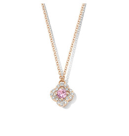 One More Halsketting Roos Goud 18kt 062387/XA Roze Saffier