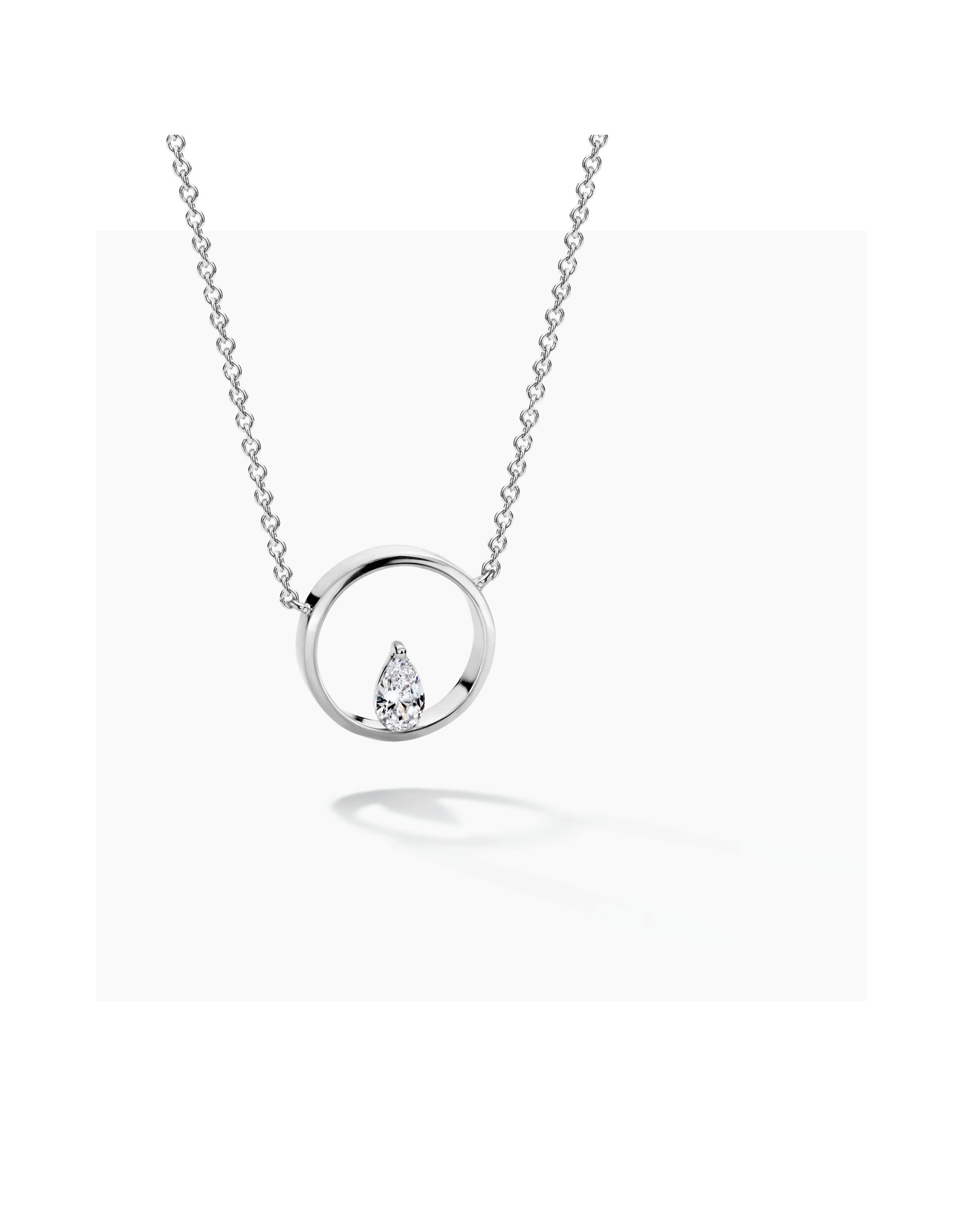 FJF Jewellery Halsketting FJF0010007SWH Icon Pine Silver 925
