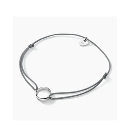 FJF Jewellery FJF Circle Cord Bracelet FJF0060202SRH Grey