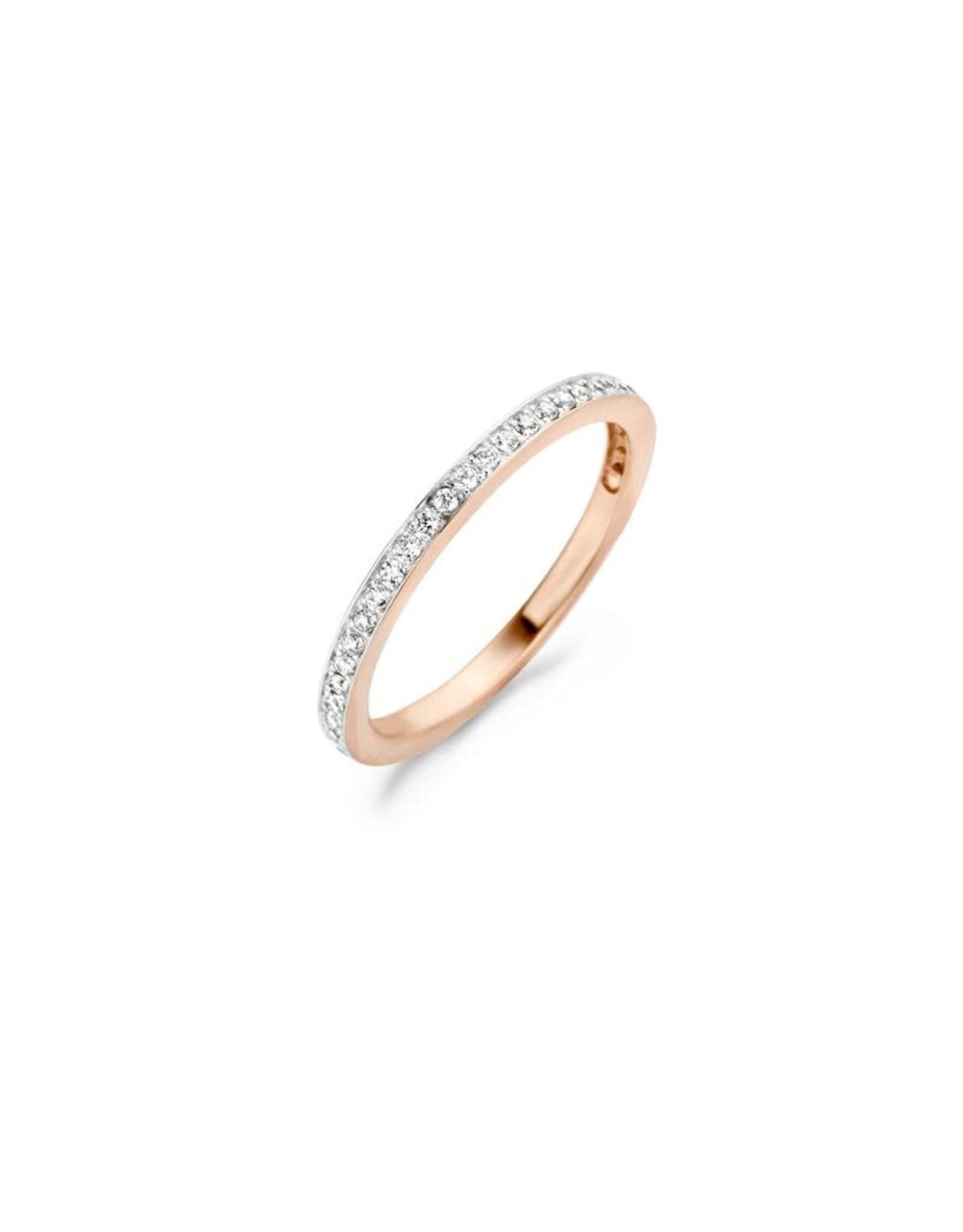 Blush Ring Blush Roos Goud 14kt 1119RZI Zirkonium maat 54
