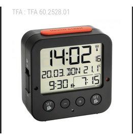 TFA 60.2528.01 Wekker Zwart