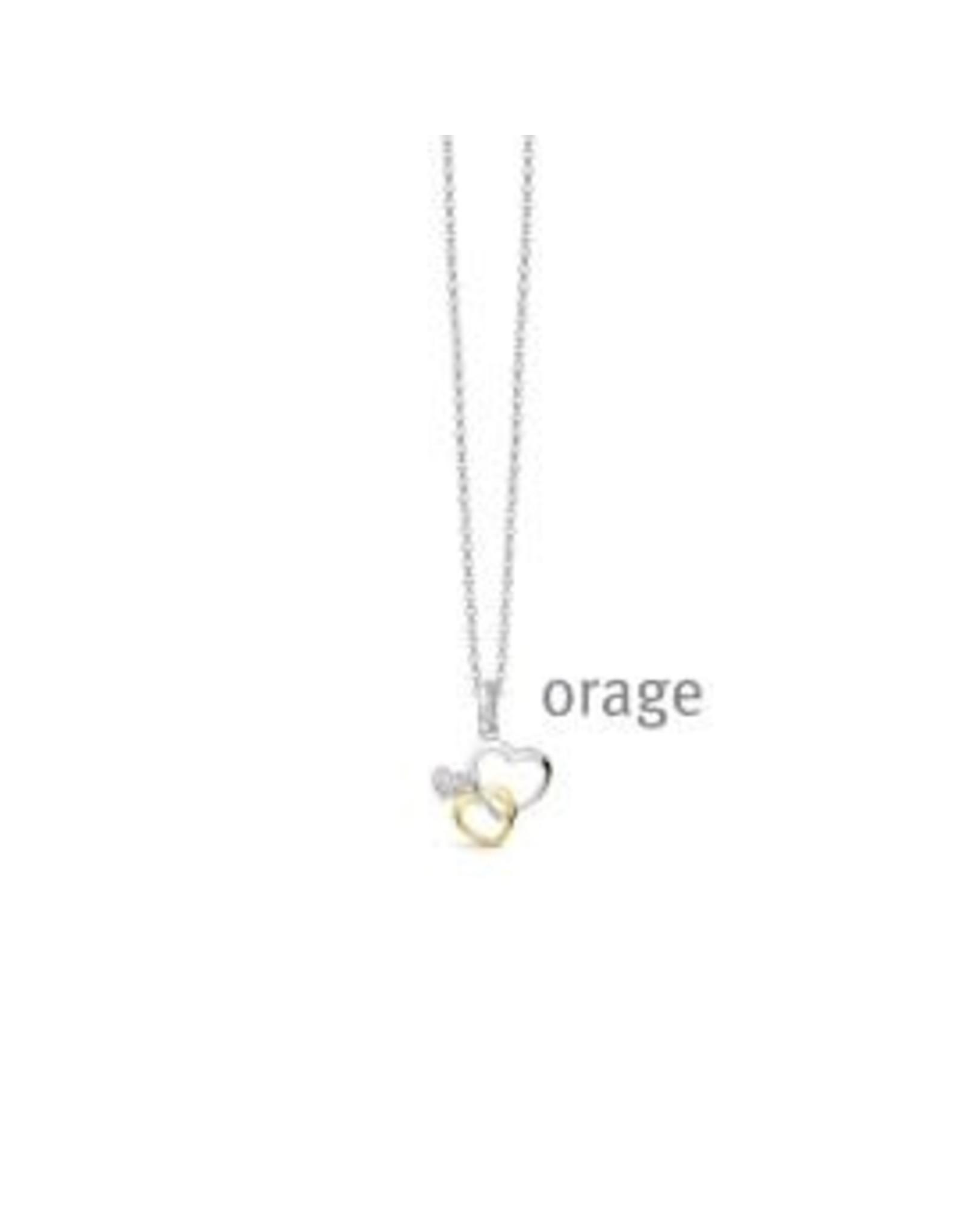 Orage Halsketting Orage AS018-V1401 Zilver Hartjes