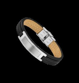 Lotus Style Armband Lotus Zwart Leder LS1808/2/2