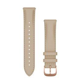 Garmin Garmin Quick release 20 mm 010-12924-21 Light Sand Italian Leather with 18K Rose Gold PVD Hardware