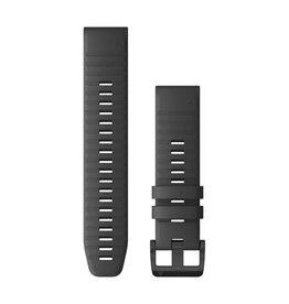 Garmin Band Silicone Garmin 22mm Quickfit Slate Gray Silicone with Black Hardware 010-12863-22
