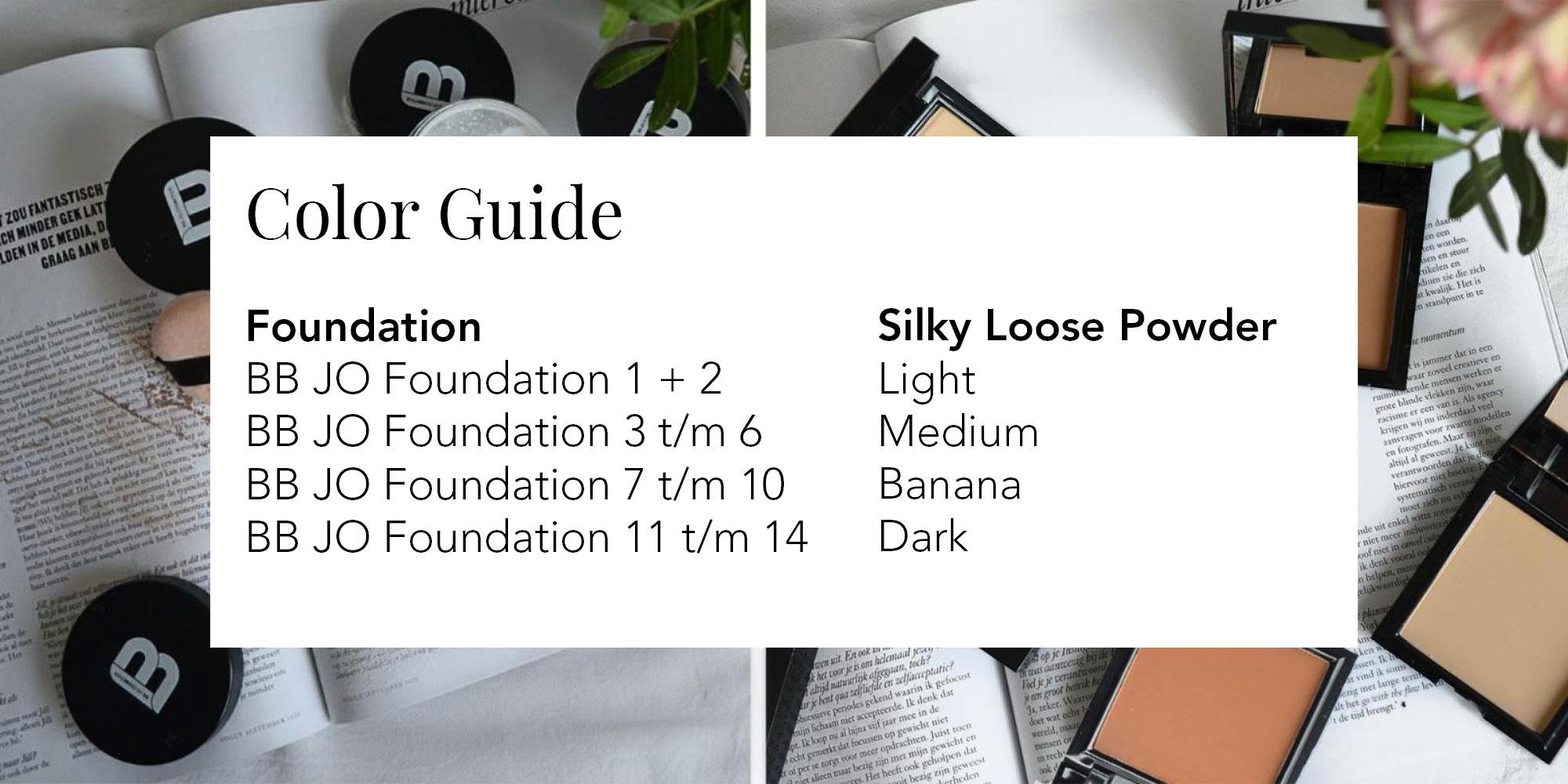 Kleur guide voor juiste makeup kleur poeder