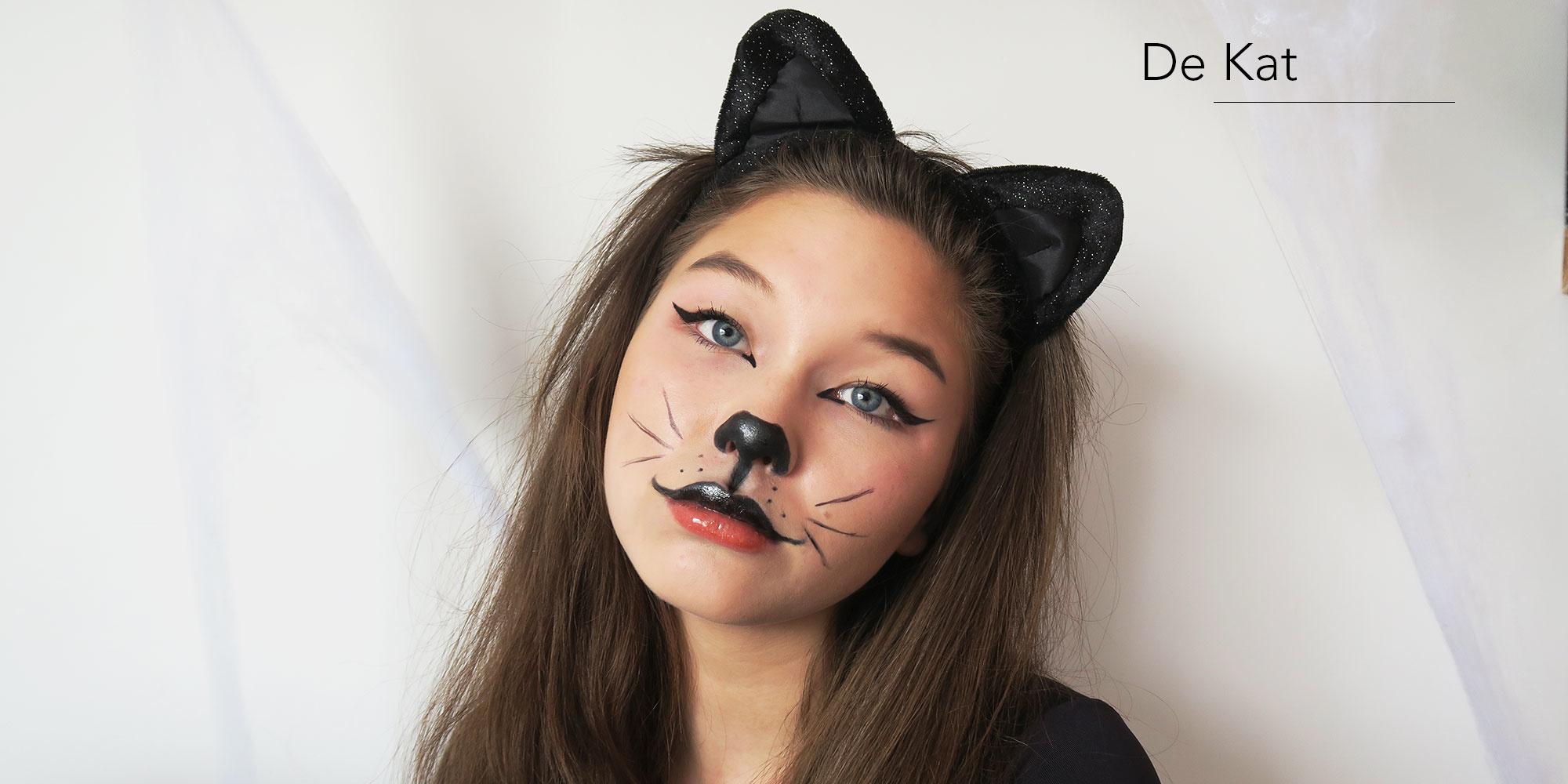 Cat kat make-up look halloween