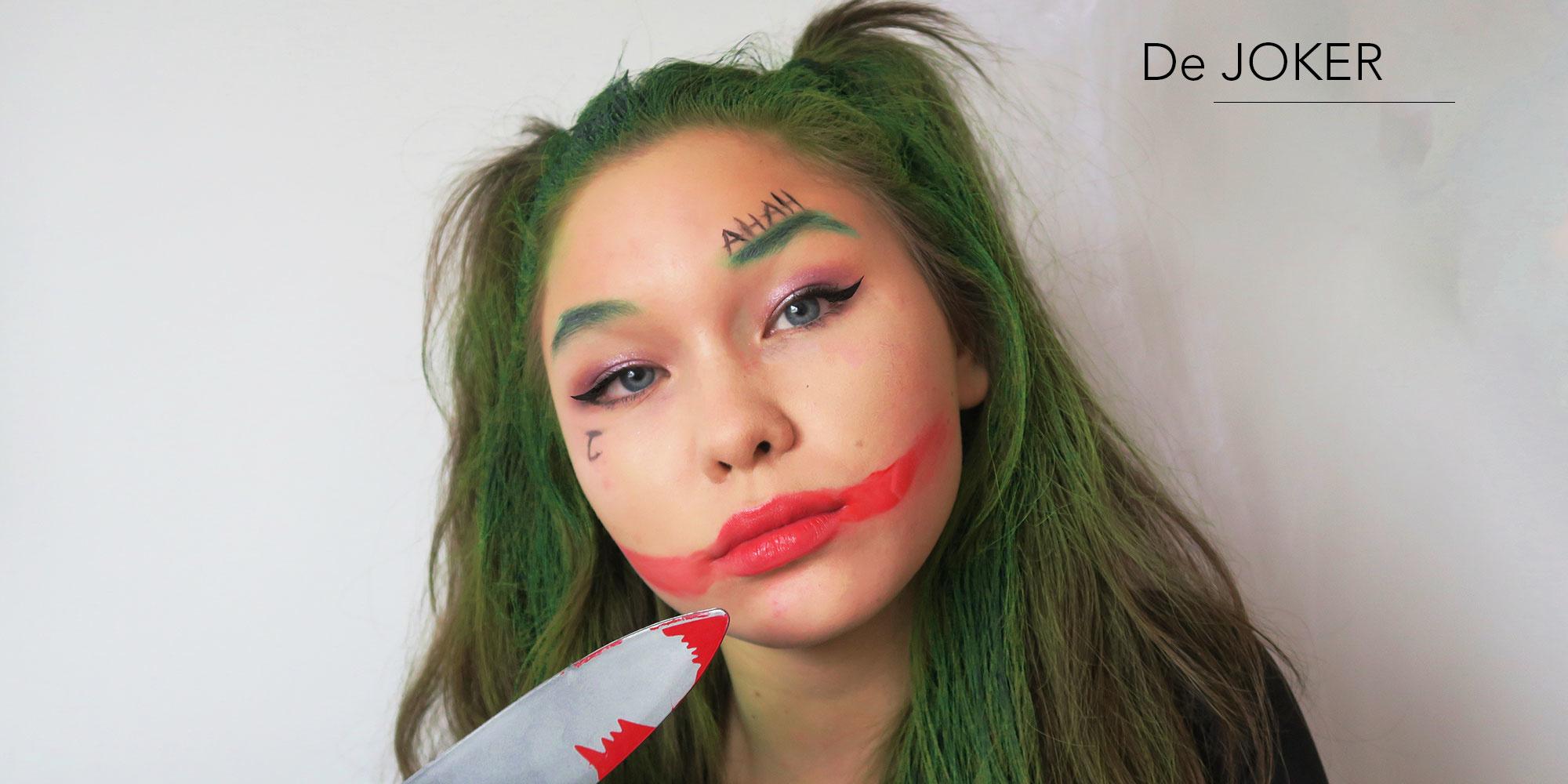 The Joker make-up look clown