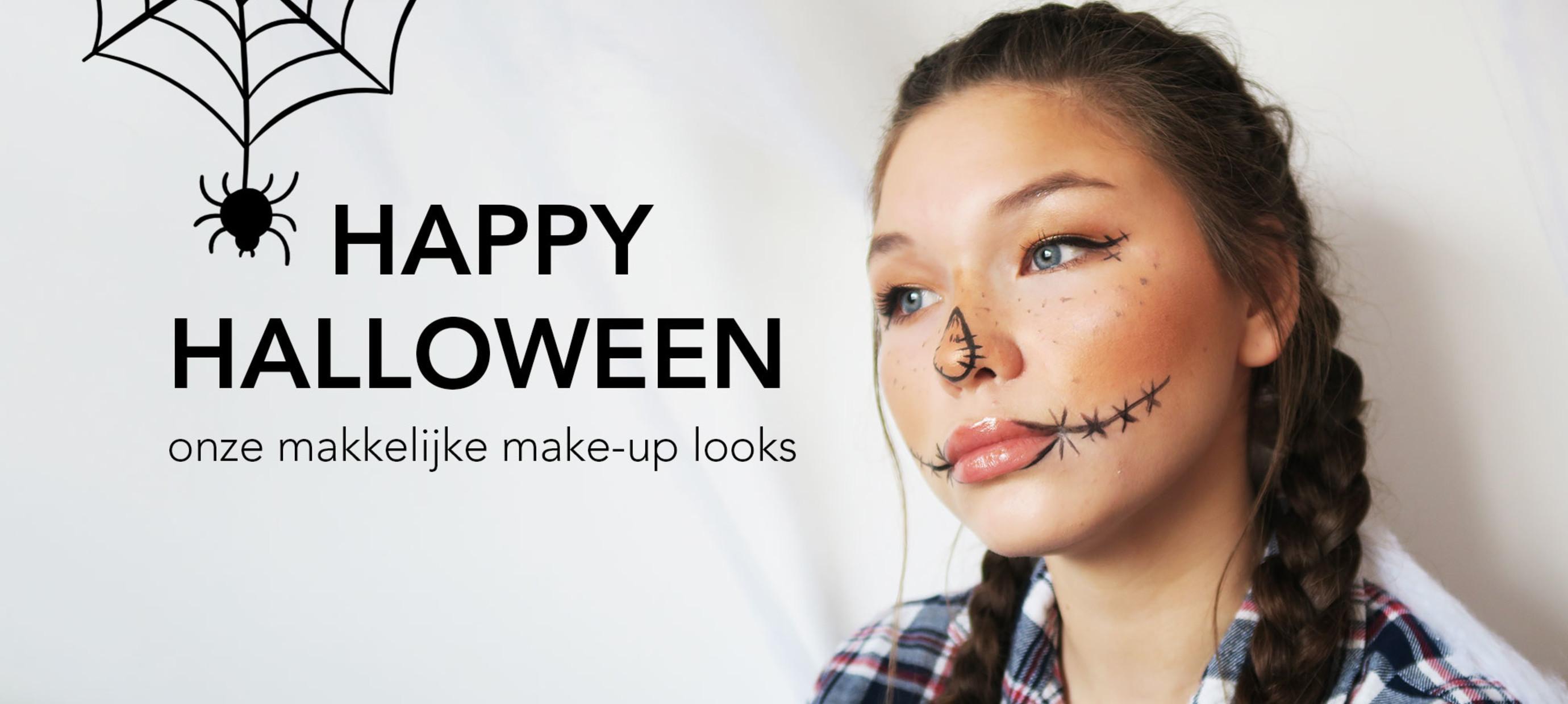 Halloween make-up looks: snel en eenvoudig