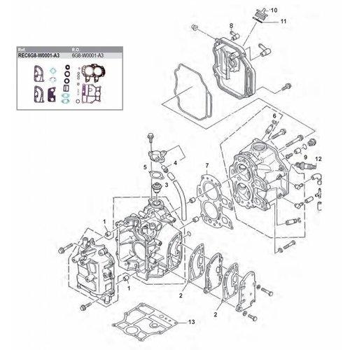 Yamaha / Mercury / Mariner F8 / F9,9 4-Takt (85-99) Blockteile