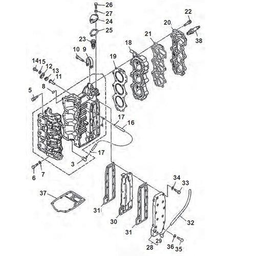 Yamaha 25/30 PS 2-Takt 3-Zyl. 86+ Blockteile