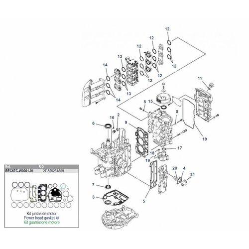 Yamaha / Mercury / Mariner F30 / F40 4-Takt 3-Zyl. Blockteile