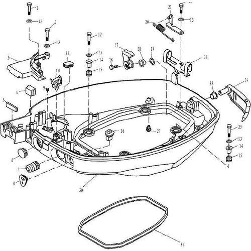 Yamaha / Parsun Außenborder F9.9, F13.5 & F15 Motorhaubenteile
