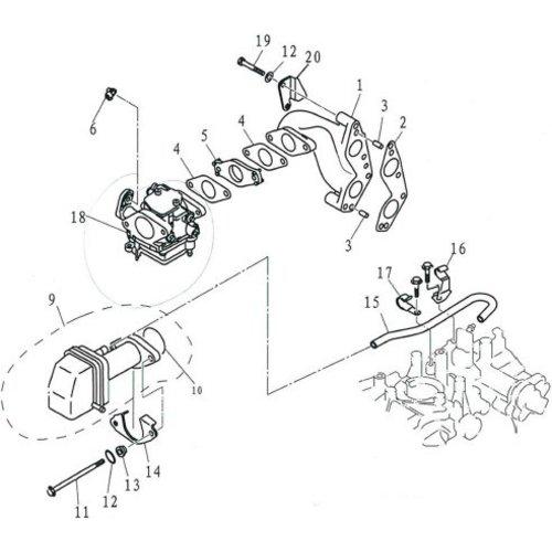 Yamaha / Parsun Außenborder F9.9, F13.5 & F15 Einlassteile