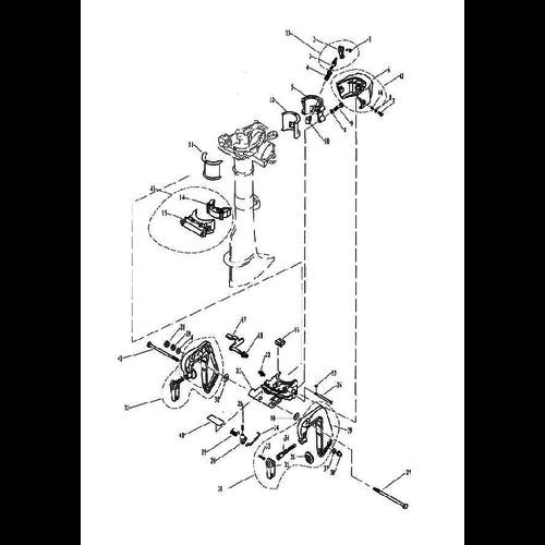 Yamaha / Parsun Außenborder F2.5 / F2.6 Halterungsteile