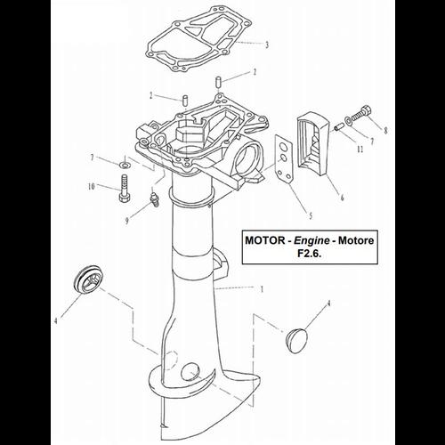 Yamaha / Parsun Außenborder F2.5 / F2.6 Oberteile