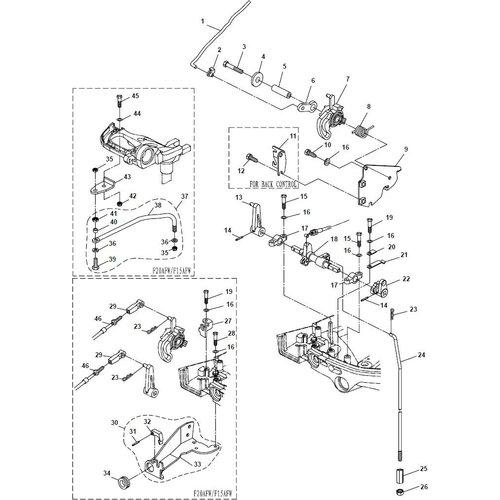 Yamaha / Parsun Außenborder F15A (F20A) BM (FW) Steuerungssystem Teile