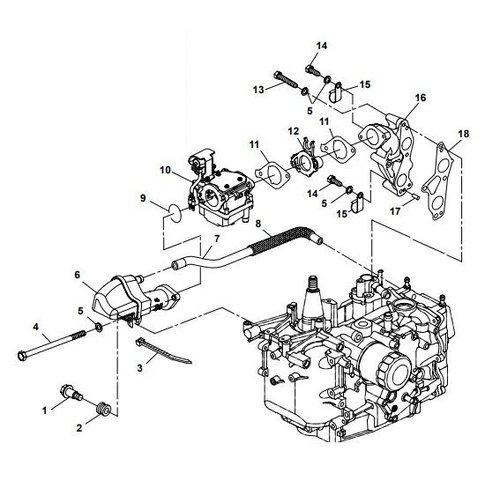 Yamaha / Parsun Außenborder F15A (F20A) BM (FW) Einlassteile