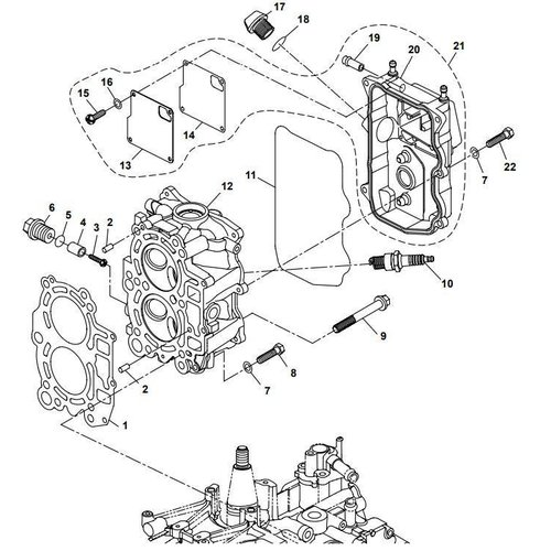 Yamaha / Parsun Außenborder F15A (F20A) BM (FW) Zylinderkopfteile
