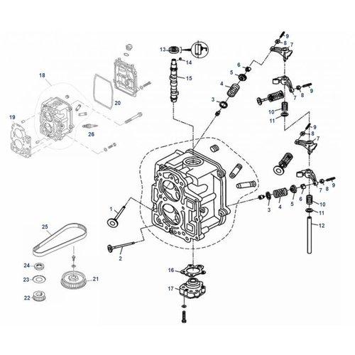 Mercury / Tohatsu / Parsun 8 / 9.8 / 9.9 PS 4T (209cc) Zylinderkopfteile