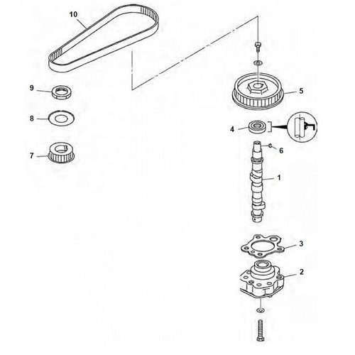 Mercury / Tohatsu / Parsun 8 / 9,8 / 9,9 PS 4T (209 ccm) Nockenwelle / Nockenwelle Teile