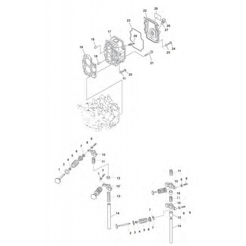 Mercury / Mariner / Yamaha / Parsun / Tohatsu 8 bis 15 PS 4T 98-07 (323cc) Zylinderkopfteile