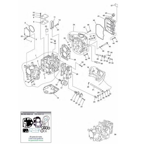 Mercury / Mariner / Yamaha / Parsun F20 / F25 Blockteile