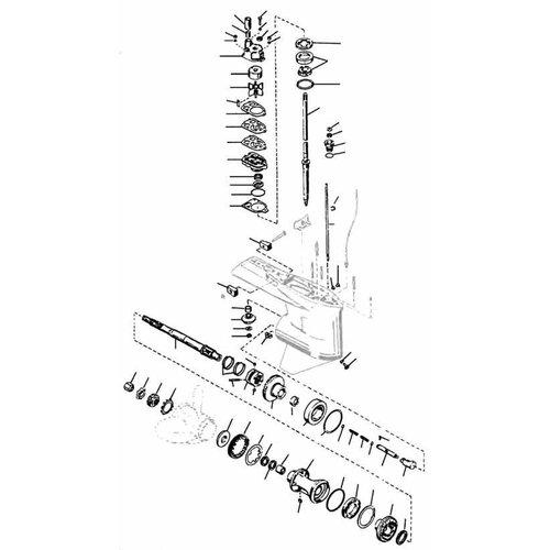 Mercury / Mariner 65 bis 225 PS 2-Takt (2,0 / 2,4 / 2,5 Liter V6 / L4 / L6 Unterwasserteile