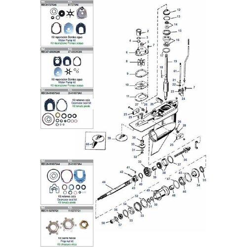 Mercury / Mariner 3.0 Liter Motoren 225 PS 2-Takt (Vergaser) + 225/250 PS 2-Takt EFI Unterwasserteile